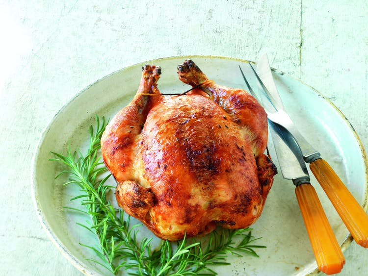 Rosemary-Brined Rotisserie Chicken | Poultry Recipes | Weber