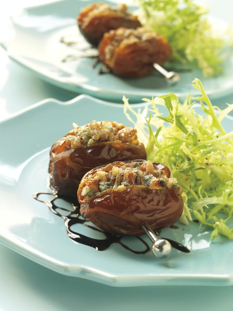 Warm Dates Stuffed With Blue Cheese And Pecans Starters