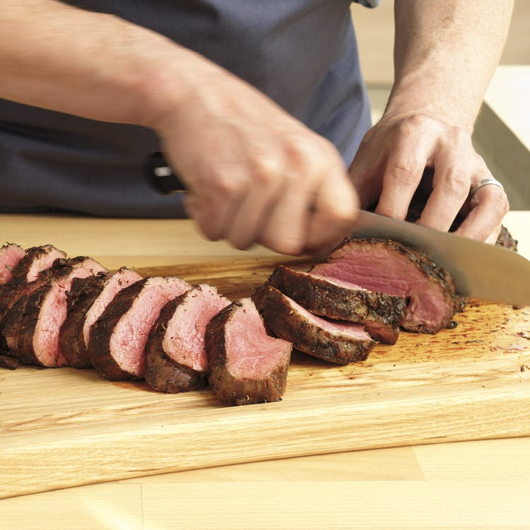 Herb Crusted Beef Tenderloin Roast With White Wine Cream