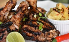 Jamaican Jerk Chicken And Barbecued Pineapple Salsa Web