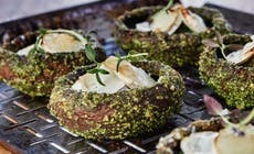 Portobello Mushrooms With Parsley Pesto And Goat Cheese Featured 346X318