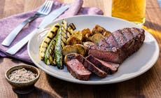 Reverse Seared New York Strip Steaks