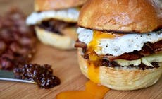 Brekky Burgers With Bacon Jam