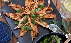 Butterflied Barbecue Prawns