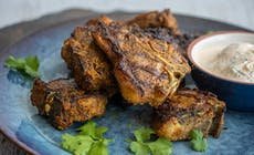 Curried Lamb Chops With Yoghurt Sauce