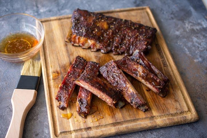 Glazed Lamb Ribs Red Meat Recipes Weber Bbq