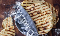 Homemade Barbecued Flatbreads