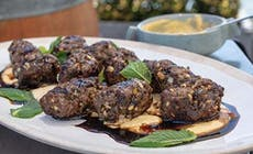 Lamb Koftas With Hummus And Pomegranate Molasses