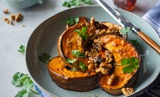Miso Maple Roast Pumpkin With Toasted Walnuts