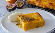 Orange Polenta Cake With Passionfruit Drizzle