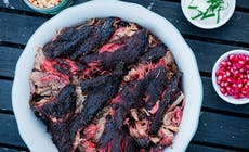 Smoked Lamb Shoulder With Pomegranate