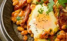 Spanish Style Chorizo Beans Eggs