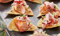 Tequila Smoked Salmon With Radish Salsa
