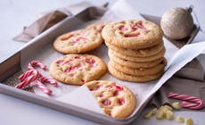 White Choc And Candy Cane Cookies