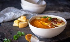 Whole Roast Pumpkin Soup
