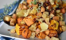Winter Roast Vegetables With Pancetta Crumb