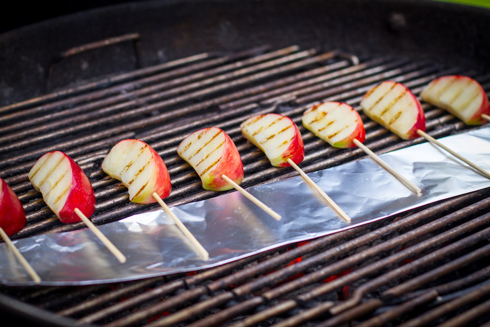 Grilled Skewered Apples