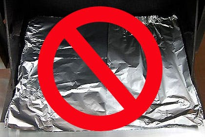 Never put aluminum foil on top of your grill burners - Weber Grills